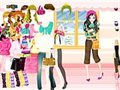 Colorful winter dress up